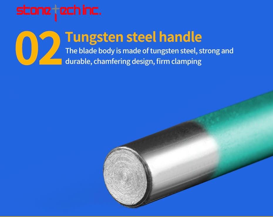 Taper stone cutter bits Vacuum brazed stone bits granite carving tools stone milling cutters - 1 piece 12mm