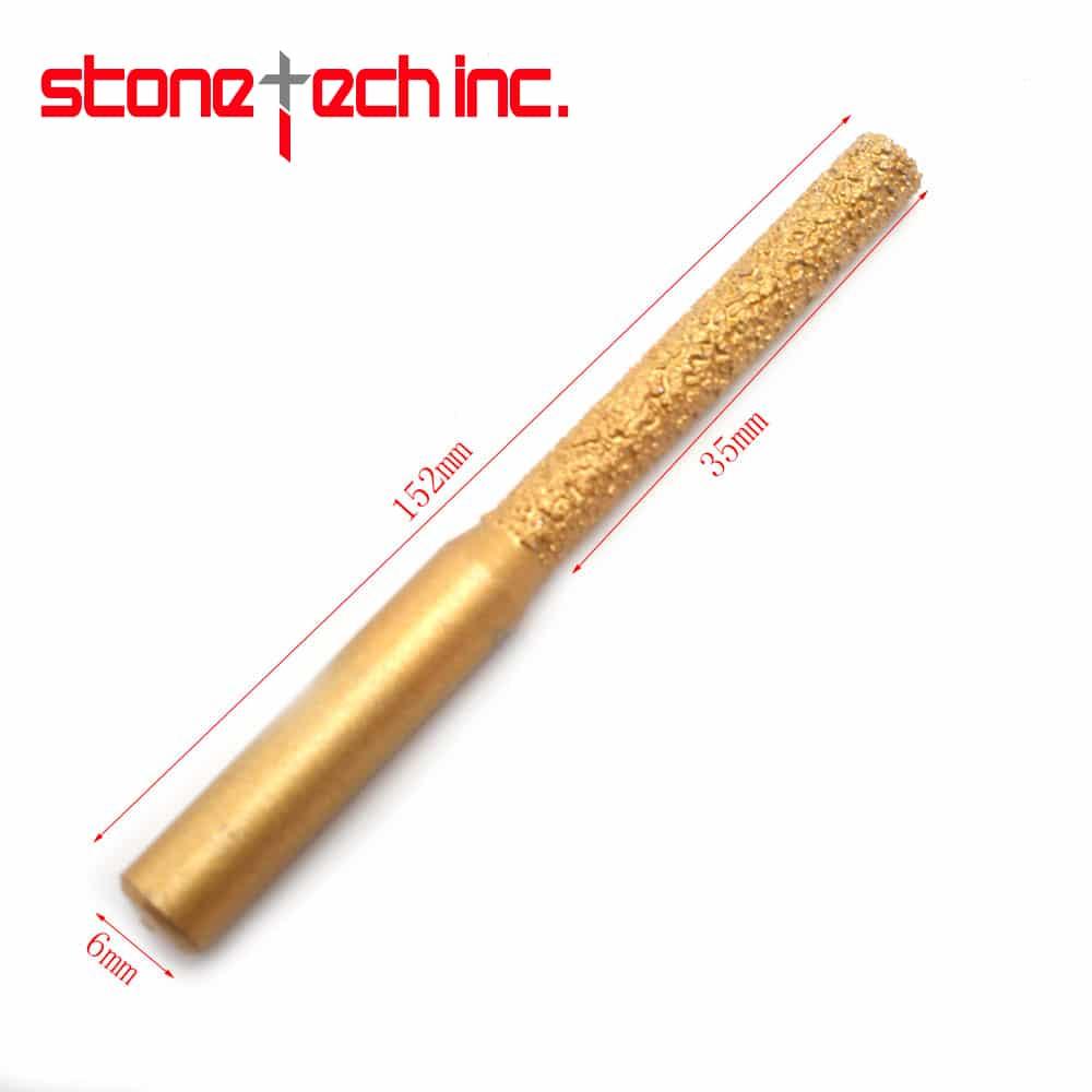 "Dia Brazed Straight Diamond Profile Wheel Router Bit For Marble Granite Edge Profiling/Cutting Electric Router Granite 1/4"" - 2Pc"