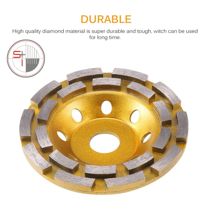 125mm Diamond Grinding Disc Abrasives Concrete Tool Consumables Wheel Metalworking Cutting Masonry Wheel Cup Saw Blade
