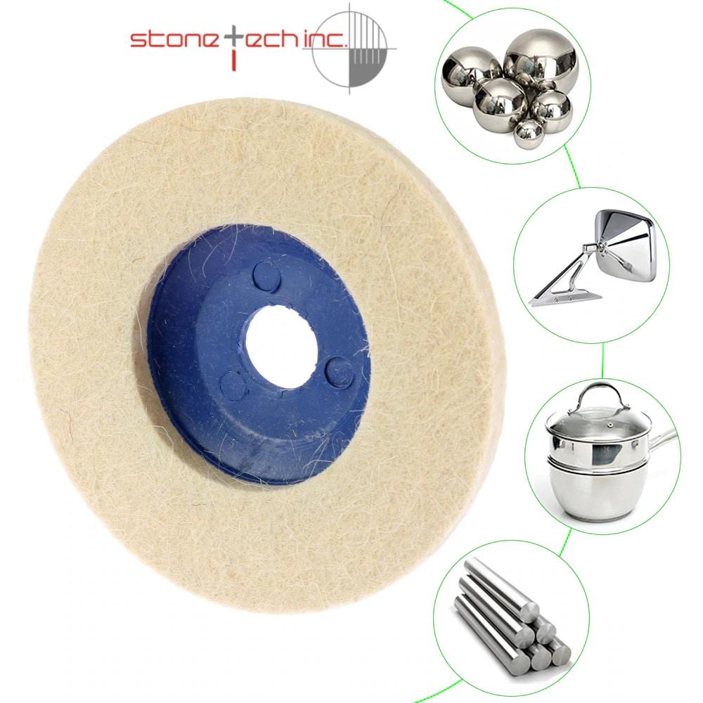 Wool Polishing Wheel Buffing Pads, Polishing Disc for Metal Marble Glass Ceramics