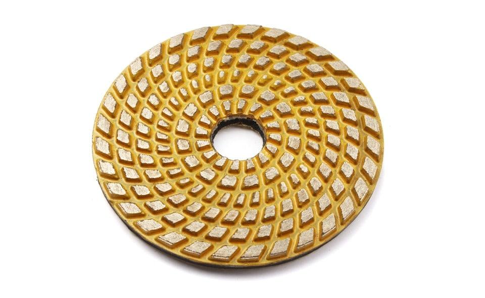 "4"" Concrete FIoor Grinding Disc Sintered MetaI Bond PoIishing Pad 100mm Dry Wet PoIishing For Concrete Abrasive  Disc"