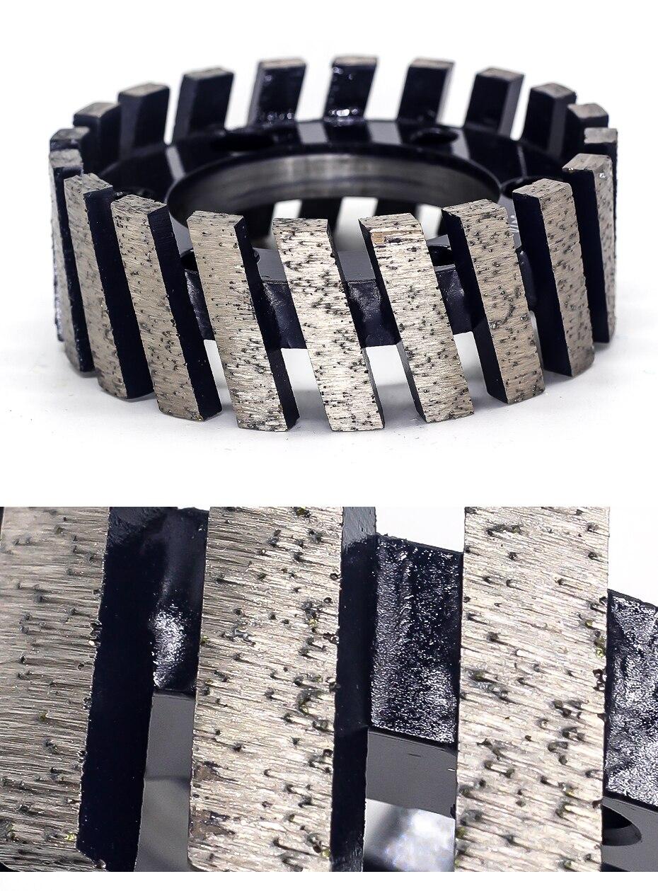 CNC grinding Wheel Segmented Type For Router Machine Calibrating Wheel Stone Granite Marble Diamond Profiling Wheel - 86mm