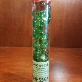 Crystal Light Green Glass Stones in 5.5' Tube (40)