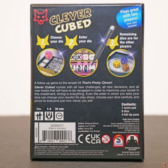 clever cubed back