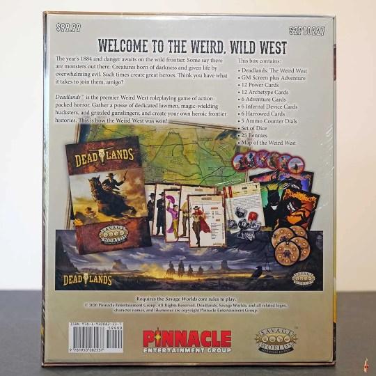 deadlands weird west boxed set swade back