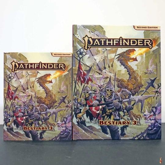 pathfinder 2e bestiary 3 side by side