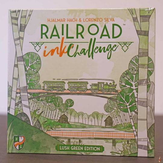 railroad ink challenge lush green front