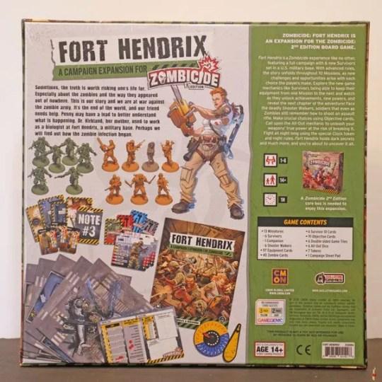 zombicide 2e fort hendrix back