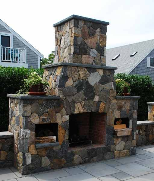 outdoor patio fireplace Outdoor Fireplaces - Stone Fireplace Kits | Cape Cod MA