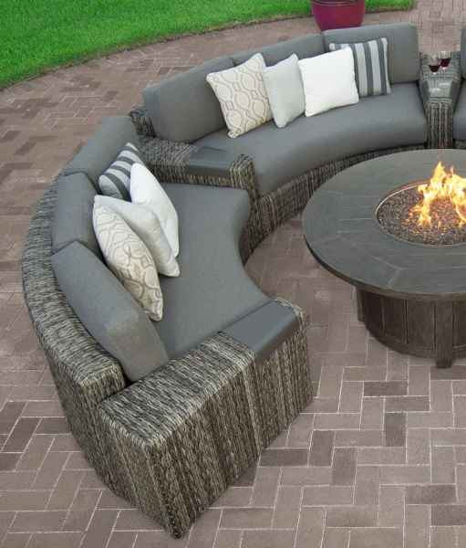 curved outdoor sectional patio furniture Orsay Curved Sofa | Ebel Furniture | Stonewood Products