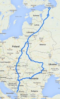 route of our trip