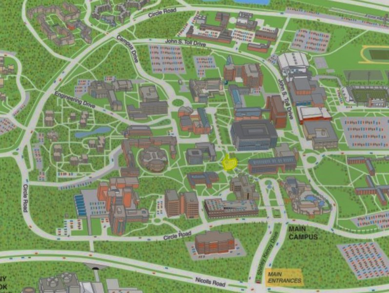 Stony Brook University  New York   Maps   Directions Campus Map