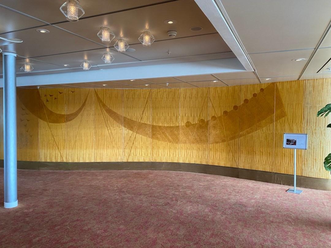 Restauratie kunstwerk Queens Lounge