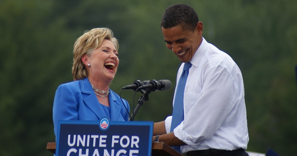 Hillary Clinton, Barrack Obama, Donald Trump allemaal monsters