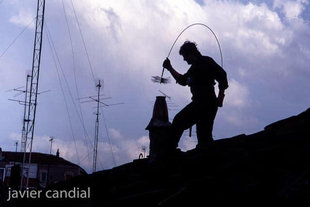 Innovación para deshollinar chimeneas
