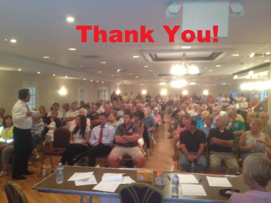 Point Pleasant meeting - thank you
