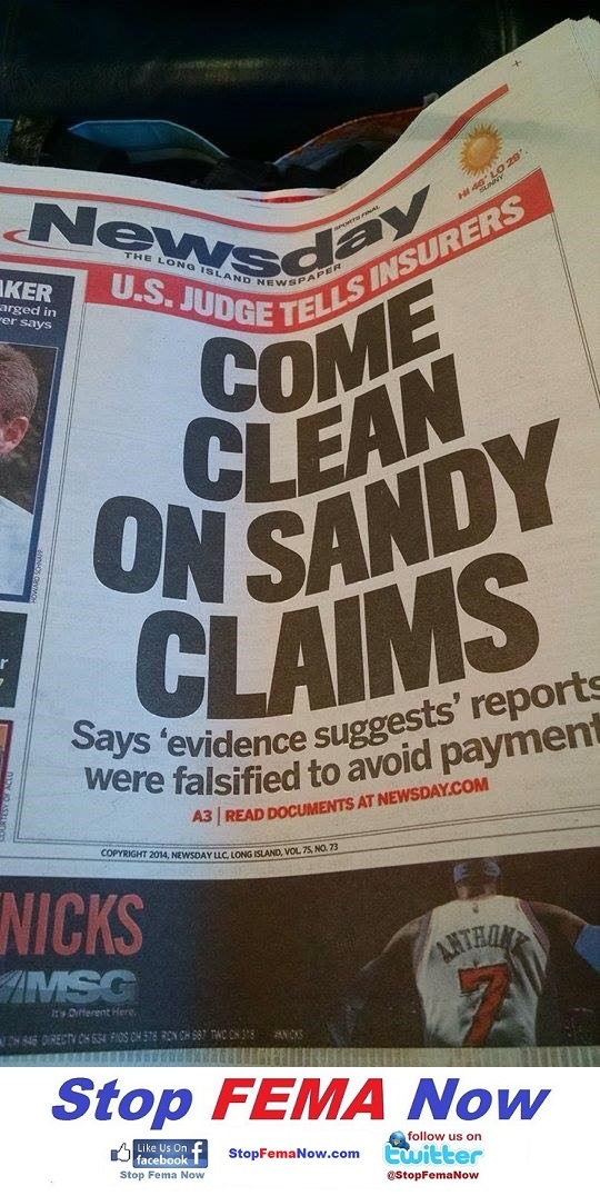 NY post - Sandy Insurance