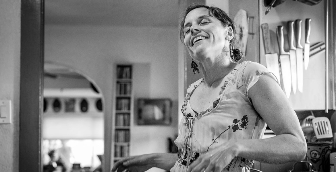 Learning to Love Myself: Mindy in her kitchen at Passover