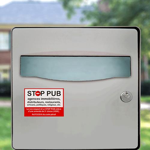 sticker stop pub rappel de loi