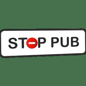 Mini STOP PUB blanc