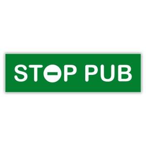 Plaquette STOP PUB verte