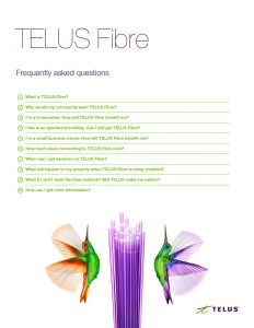 TELUS Fibre FAQ list