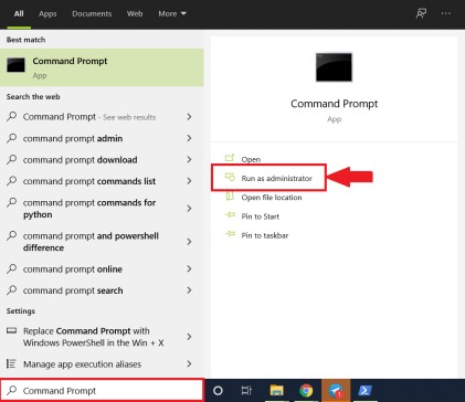 Command Prompt - Windows 10