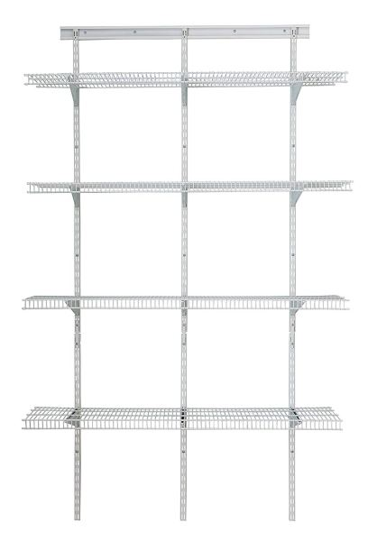 Custom Closet Steel Wire Ventilated Shelving   Storables 10 Nickel Wire Shelving