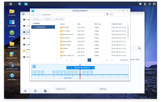 hyper backup, DiskStation Manager 6.0, Synology