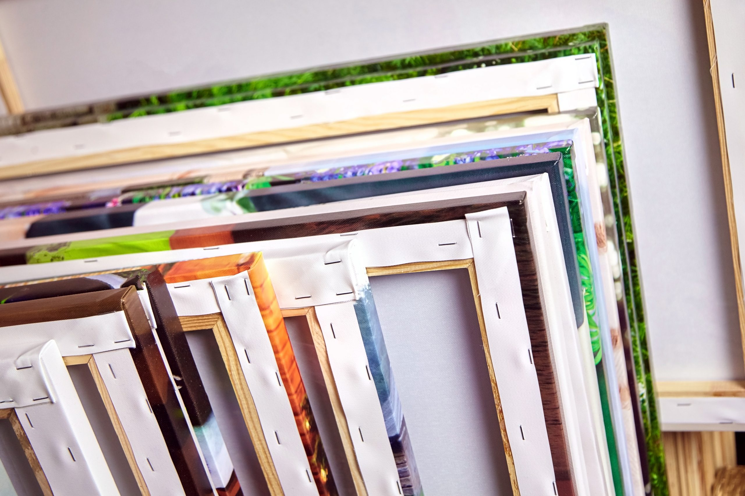 how to store canvas prints other