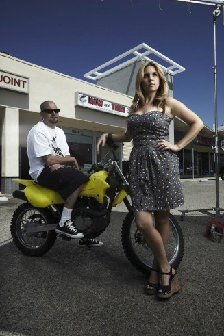 Brandi Passante posing for Storage Wars