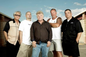 dan dotson with the cast of the storage wars television show