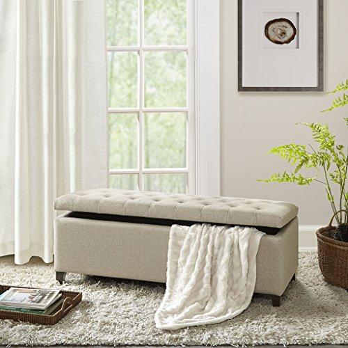 Sensational Shandra Tufted Top Storage Bench Linen See Below Storage Short Links Chair Design For Home Short Linksinfo
