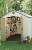 Shed with storage options