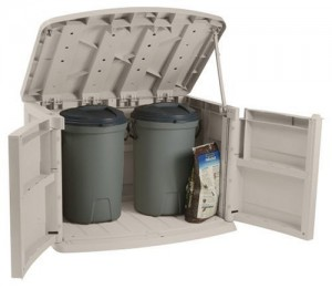 suncast garbage can storage_open