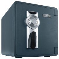 First Alert 2087F-BD 0.94 Cubic Feet Bolt-Down Waterproof 1 Hour Fire Safe with Combination Lock, Grey