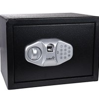 "Ivation FP15 Home Safe - 13.75"" x 10"" x 10"" Digital Safe w/Biometric Fingerprint Reader, PIN Code & Manual Key"