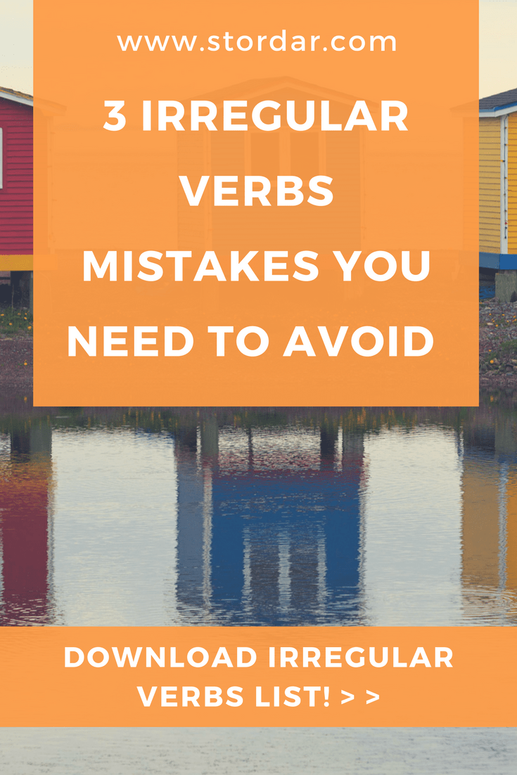 3 Irregular Verbs Mistakes you Need to Avoid | Learn English Online
