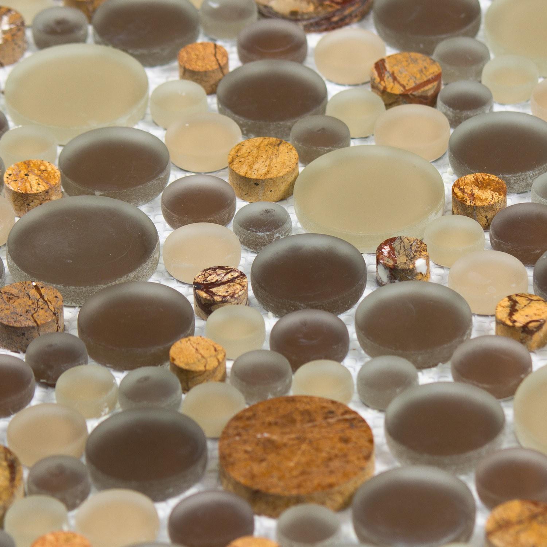verre marron beige gris nature bubble