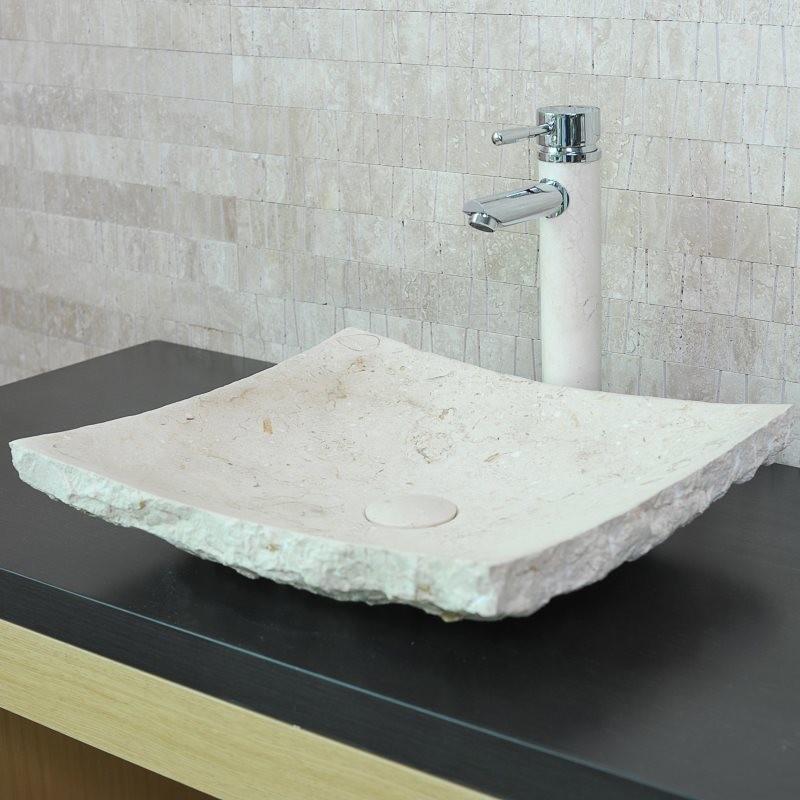 vasque rectangulaire pierre naturelle