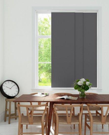 panneaux japonais occultant gris thermique 50x250cm