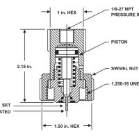 KIDDE 82-878737-000 Fire suppression system pressure control head