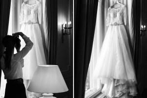 Details der Braut fotografieren, mit einer Auflistung