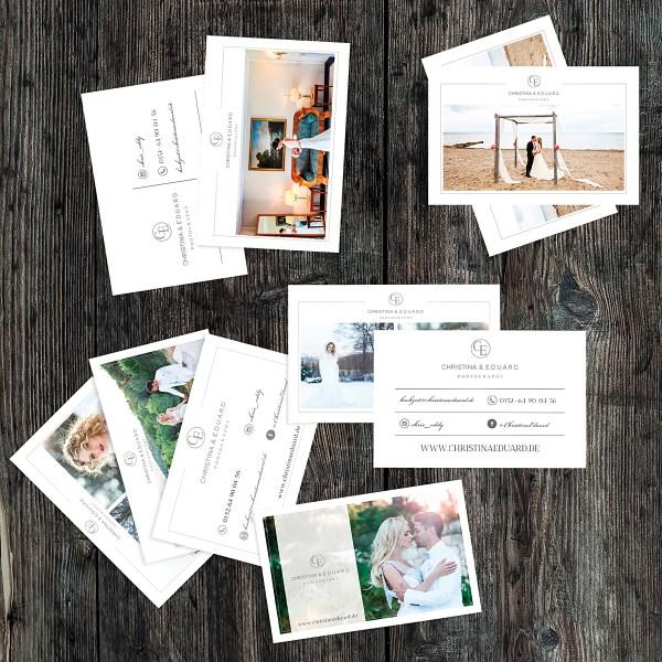 Vorlagen zum Gestalten von Visitenkarten