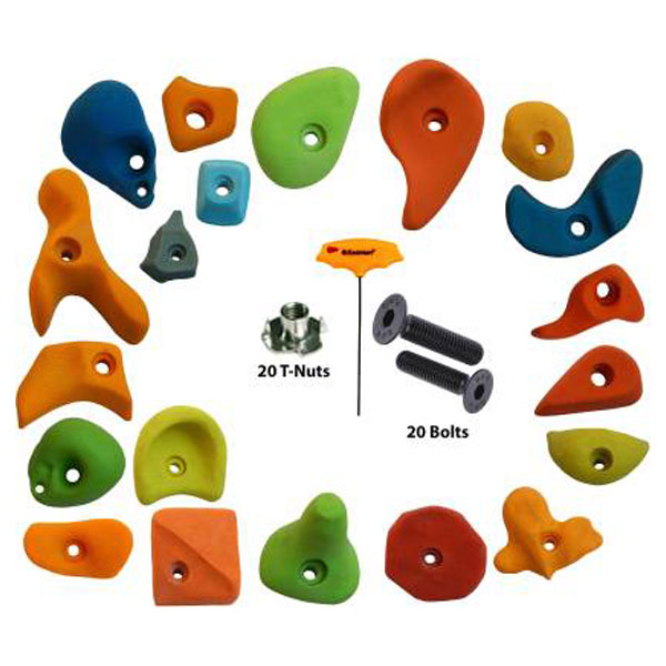 20 Pieces Mix Climbing-Holds