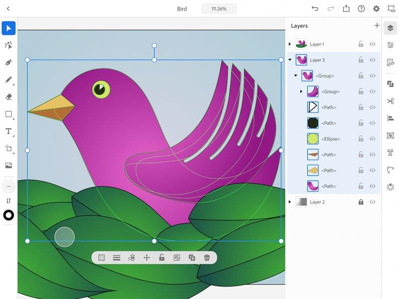 straturi Adobe Illustrator iPad