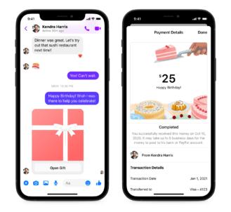 facebook messenger cash gift 1
