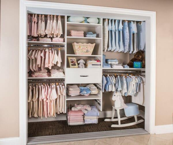 an organized kids closet