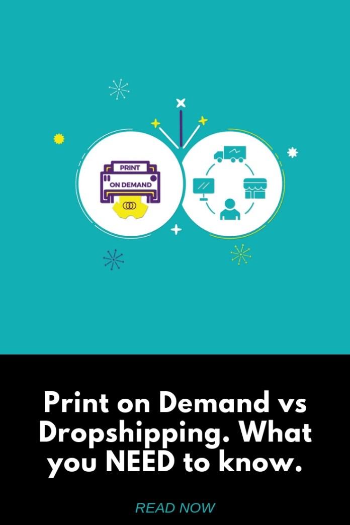 Print on Demand vs dropshipping 2