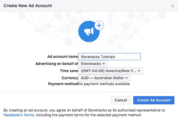 Ad Account Set Up